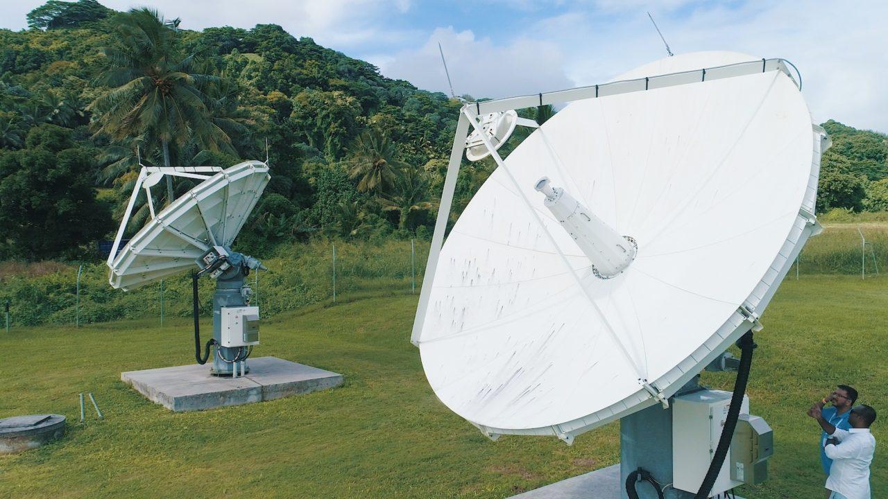Bluesky Cook Islands antennas. Photo: Bluesky.