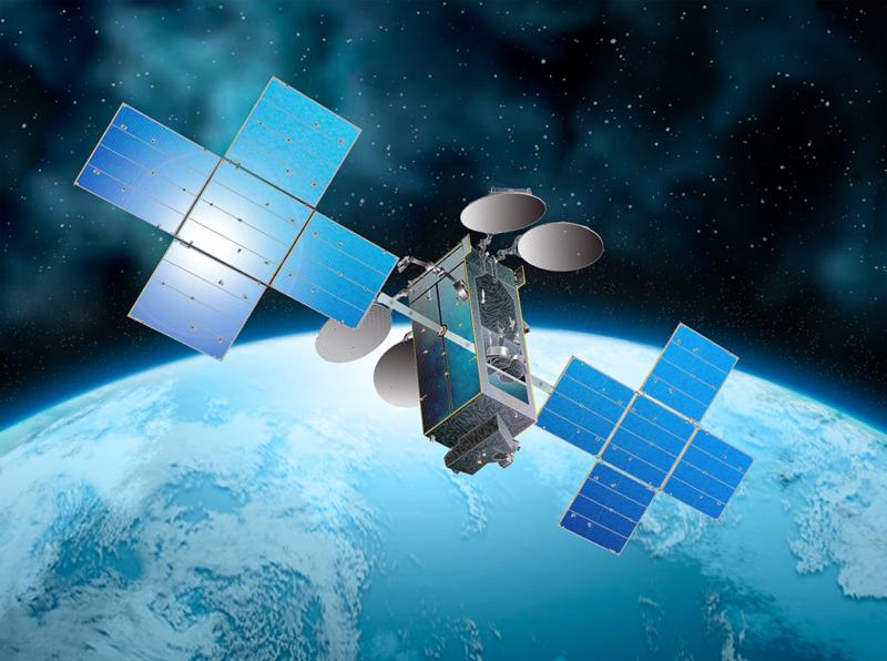 Rendition of EchoStar 24 satellite, which SSL is building for EchoStar/Hughes. Photo: SSL.