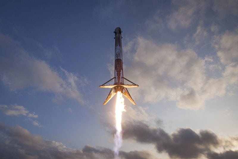 Falcon 9 takes off for SpaceX's first ever reflight mission. Photo: SpaceX.