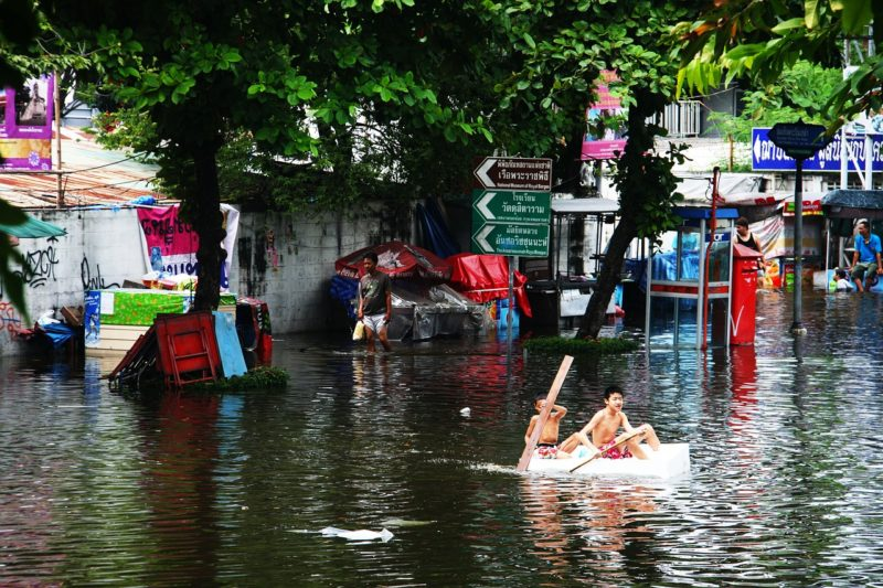Image from the 2011 flood in Bankok, Thailand. Photo: Radiant.Earth.