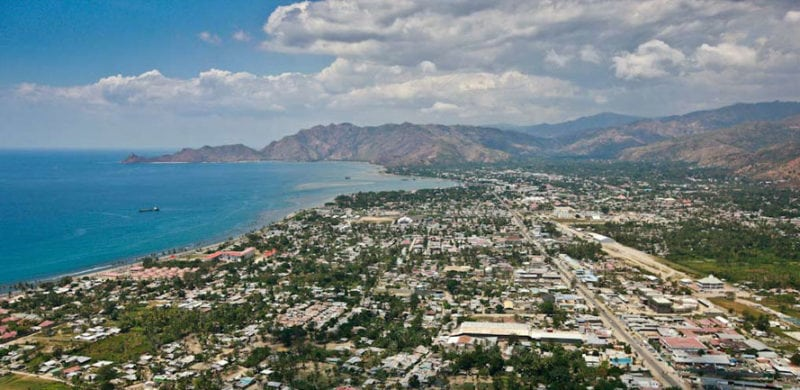 Overhead view of Timor-Leste. Photo: SACC.