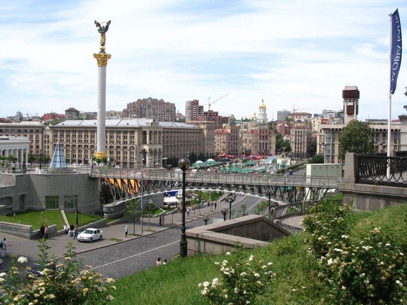 Independence Square in Kiev, Ukraine. Photo: Wikimedia.