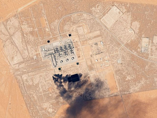 Khurais oil processing facility in Saudi Arabia. Photo: Planet.
