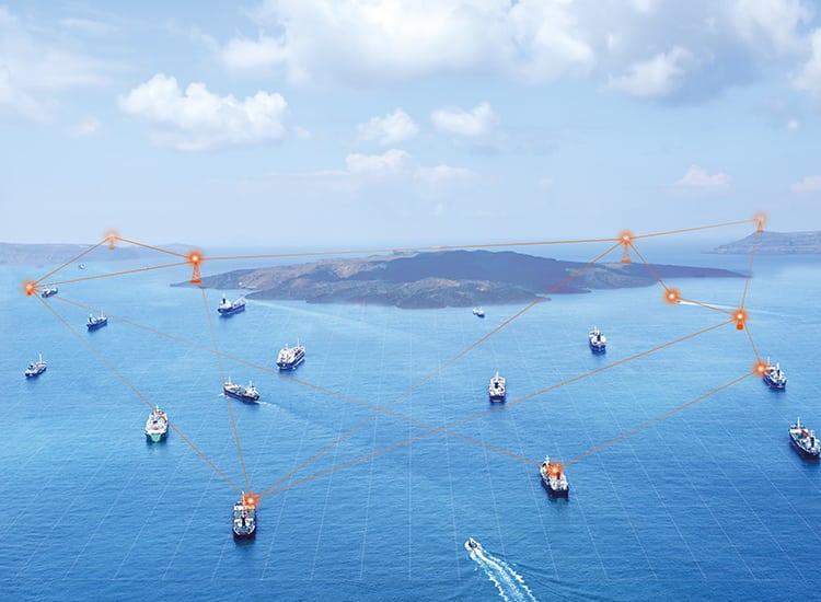 Rendition of SRT's maritime domain surveillance system. Photo: SRT.