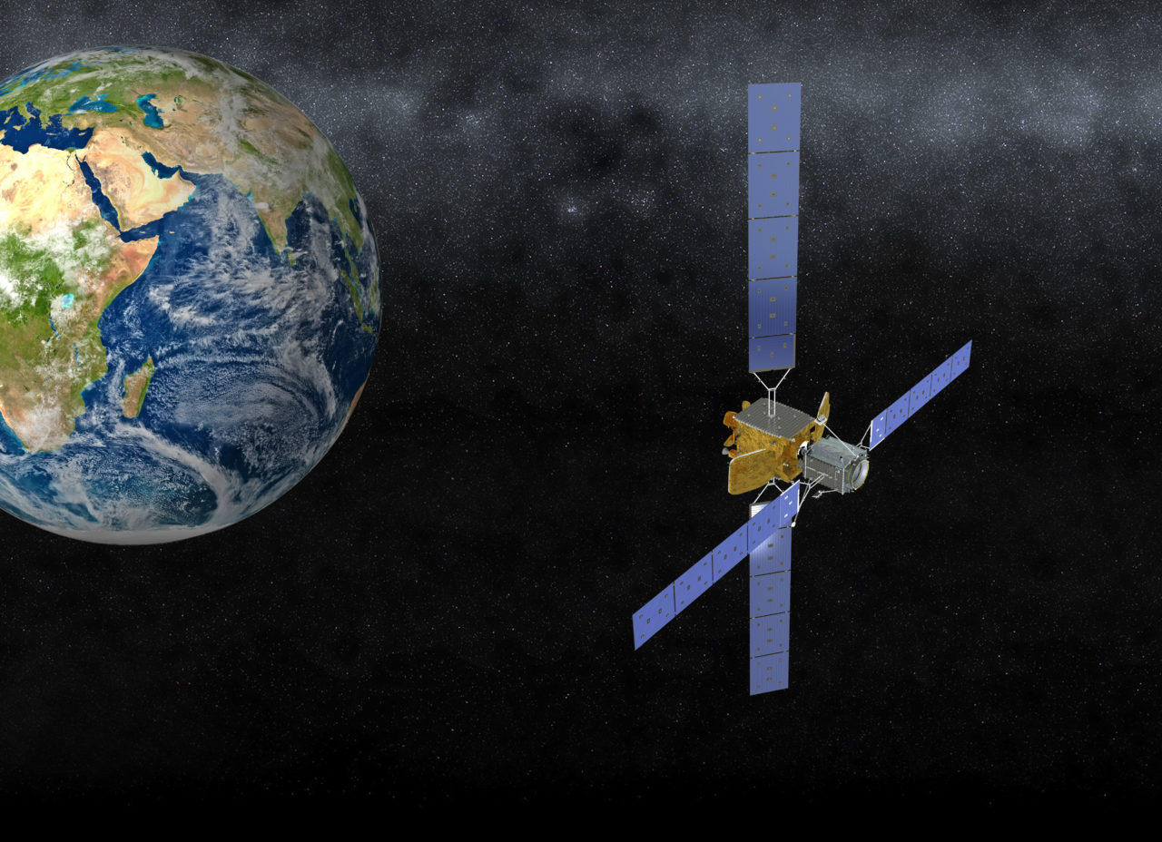 Rendition of MEV in orbit with a client's satellite. Photo: Orbital ATK.
