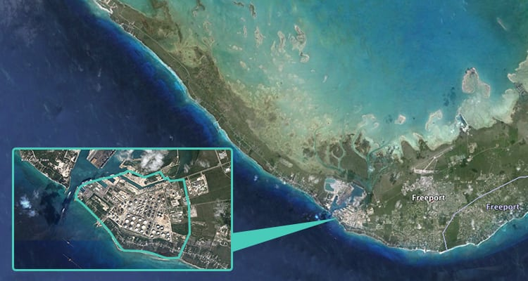 Overhead view of Buckeye's Bahamas Hub. Photo: Buckeye Global Marine Terminals.