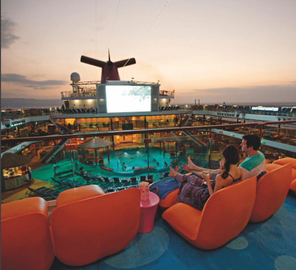 Top view of a Carnival cruise ship. Photo: Carnival.