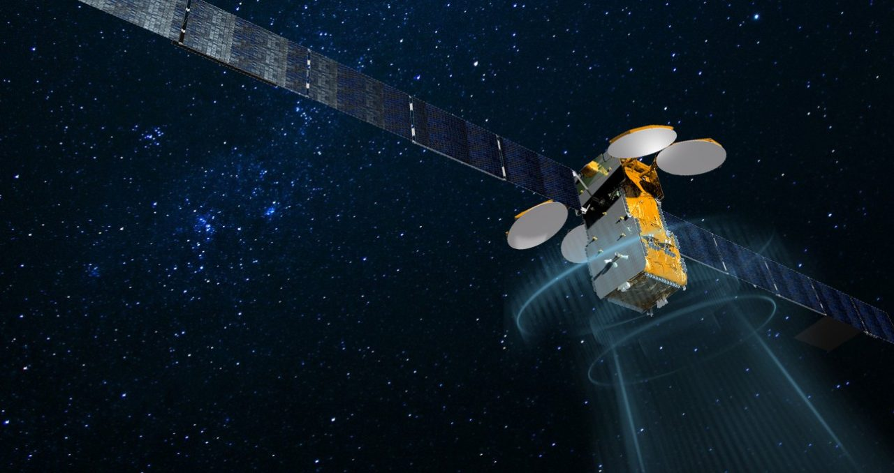 Rendition of a High Throughput Satellite (HTS). Photo: Isotropic Systems.