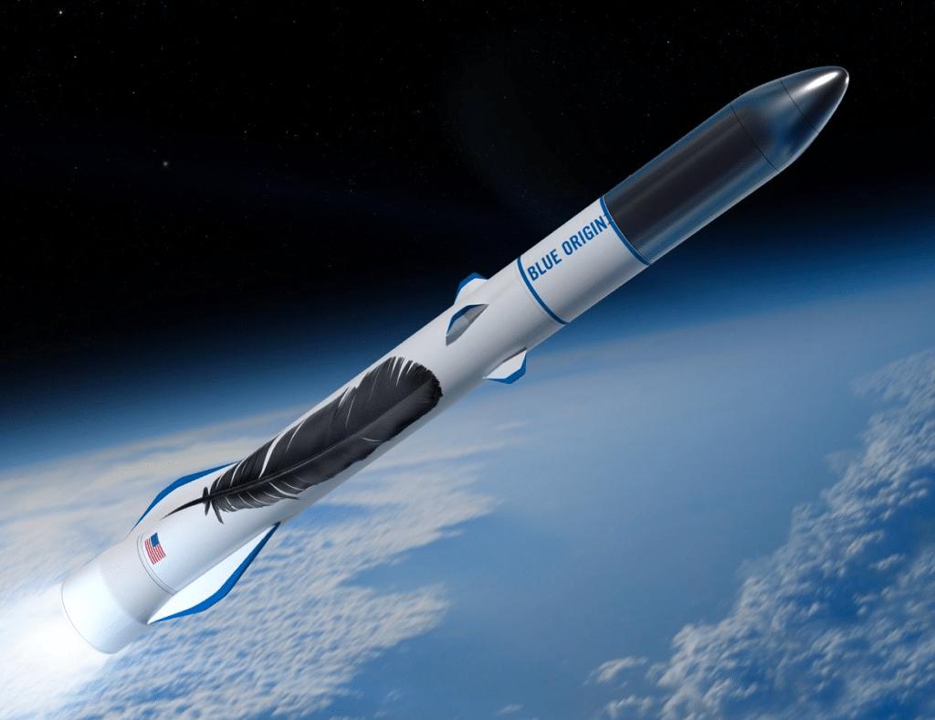 Rendition of the New Glenn rocket. Photo: Blue Origin.