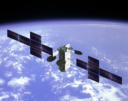 Rendition of Japan's ETS 9 satellite. Photo: Mitsubishi Electric.