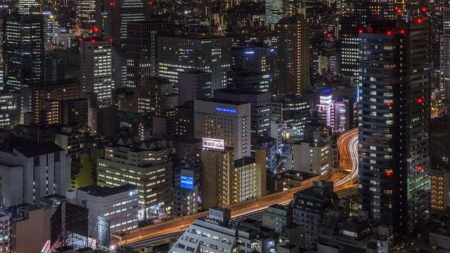 Downtown Tokyo skyline at night. Photo: Flickr, B Lucava.