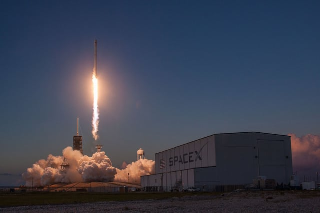 Falcon 9 lifts off for the launch of Echostar 105/SES 11 on Oct. 11. Photo: SpaceX.