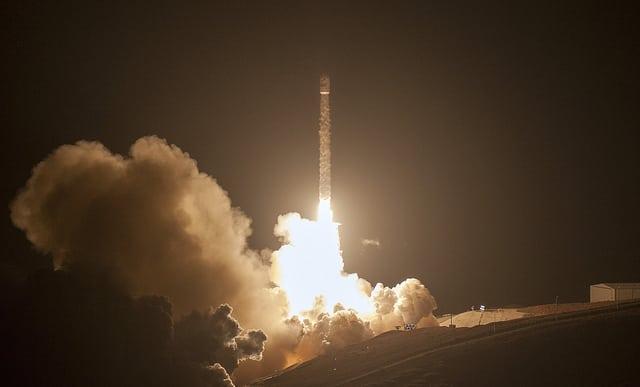 SpaceX's Falcon 9 launches the third set of Iridium Next satellites into orbit on Oct. 9. Photo: SpaceX.