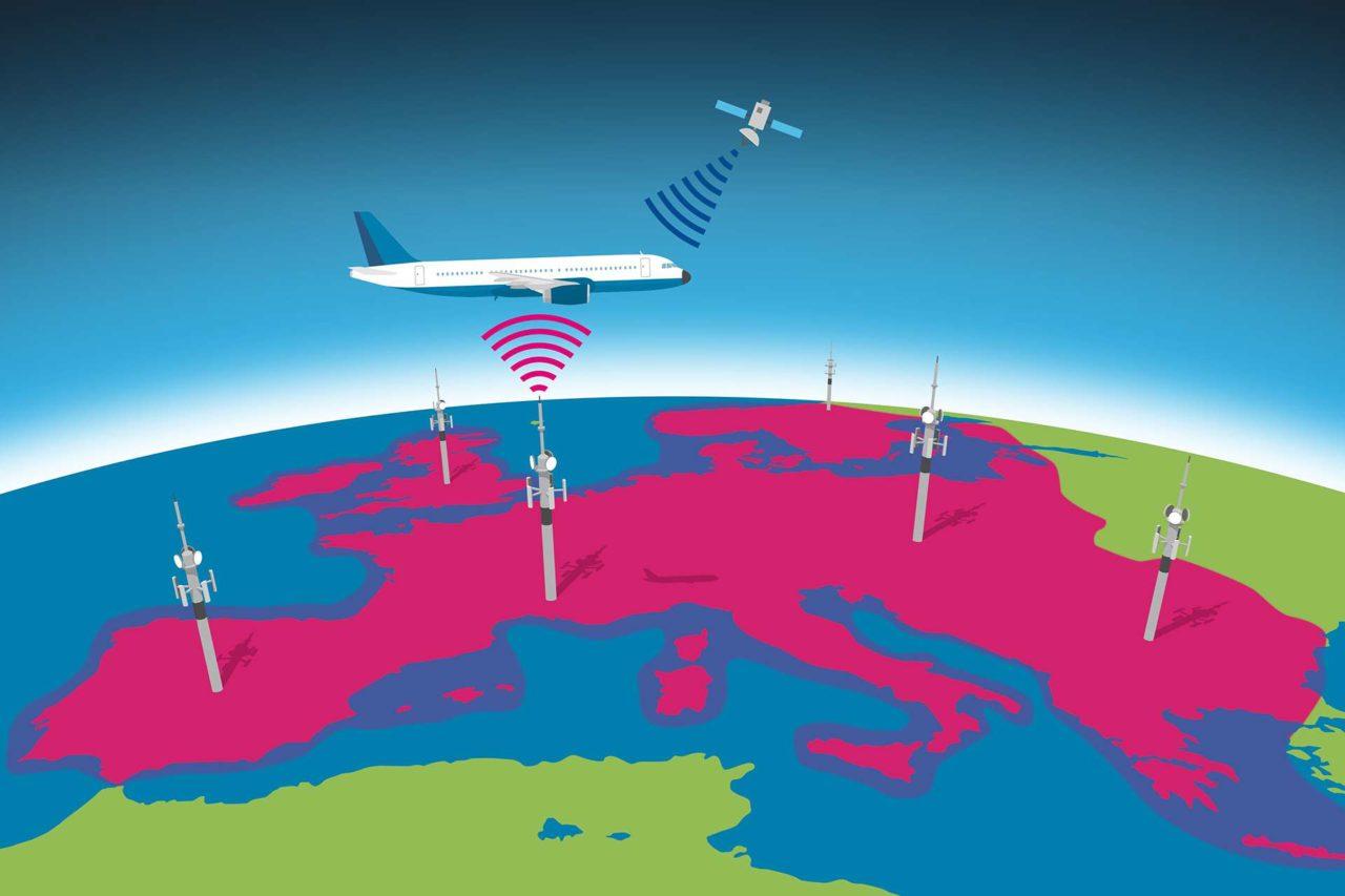 Rendition of the European Aviation Network (EAN). Photo: Deutsche Telekom.