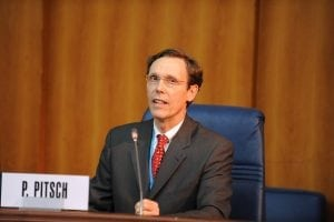 Mr Peter Pitsch, Executive Director, Communications and Associate General Counsel, Intel Corporation, United States, speaks at the ITU GSR 2010, Dakar.