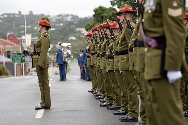Anzac Day service at the National War Memorial Wellington in 2011. Photo: NZDF.