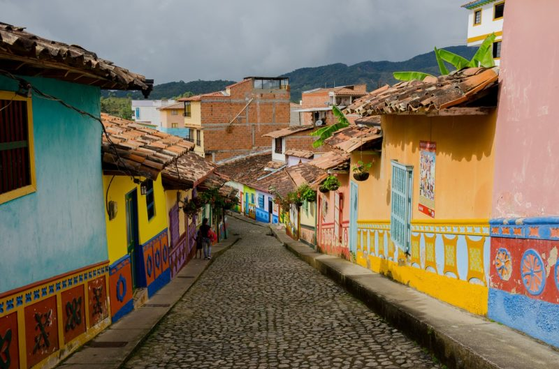 A residential street in Guatape, Colombia. Photo: Pixabay.