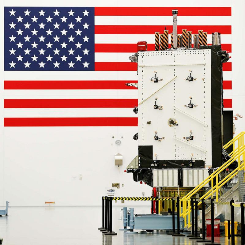 GPS SV01 at Lockheed Martin's processing facility near Denver, Colorado. Photo: Lockheed Martin.