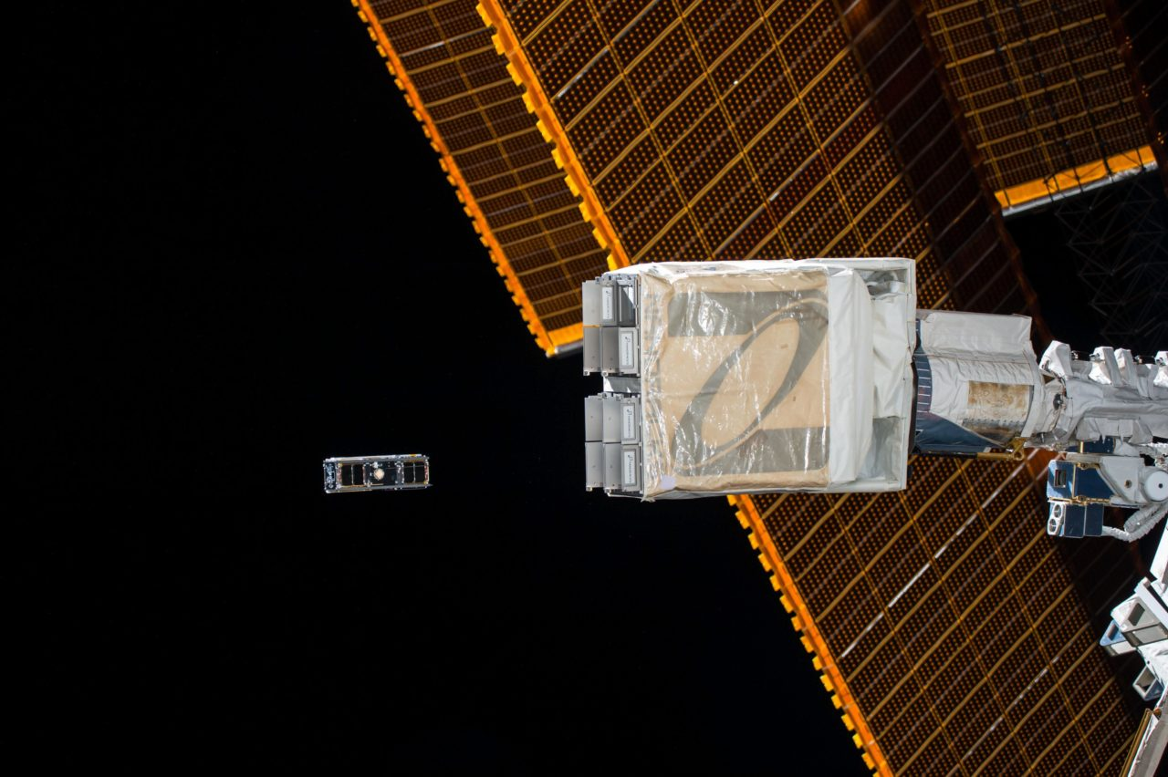NanoRacks CubeSat Deployer taken shortly after successful deployment of cubesats during Expedition 51. Photo: NASA.