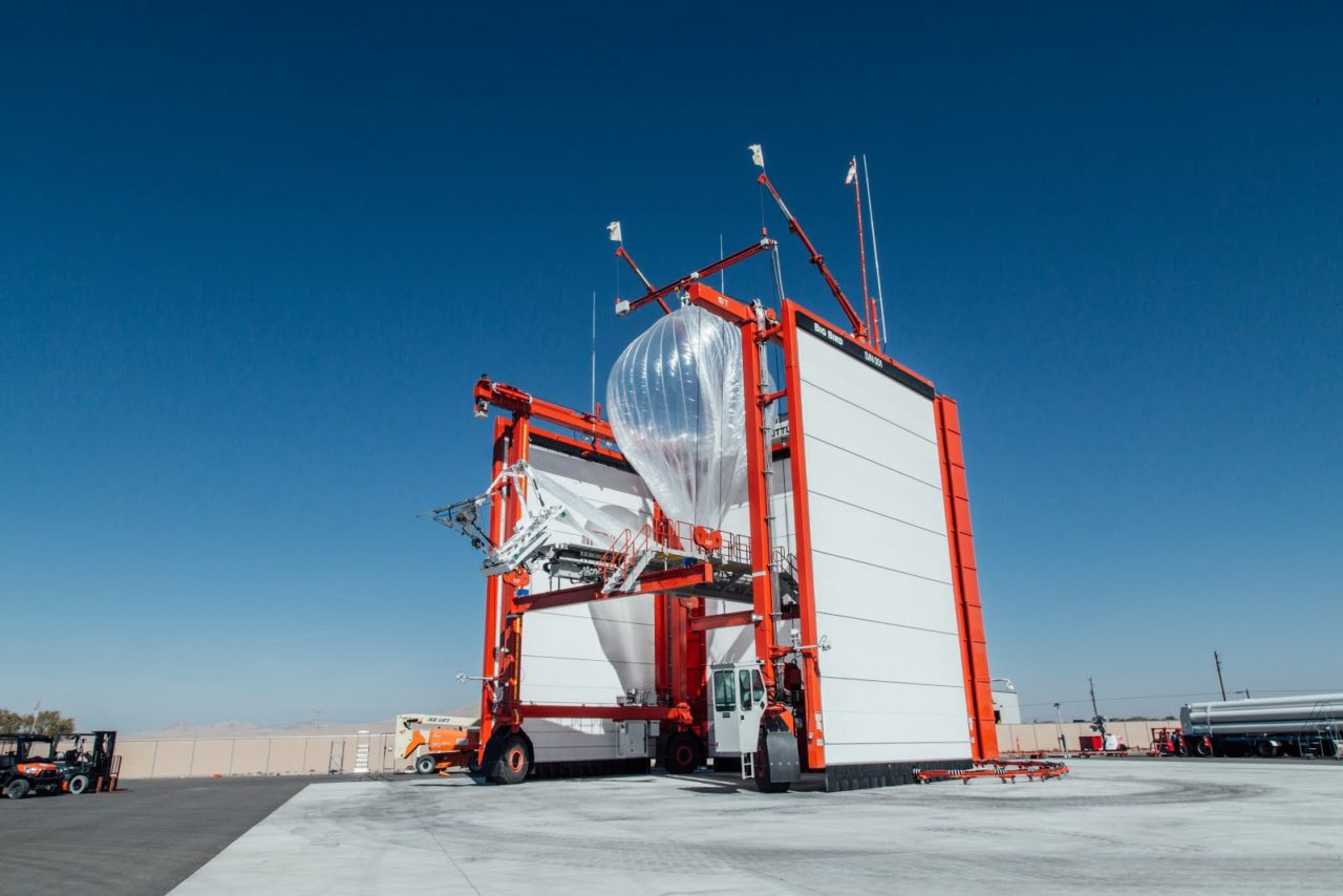A Loon balloon getting ready to take flight to Puerto Rico from X's launch site in Nevada. Photo: Alphabet/X.