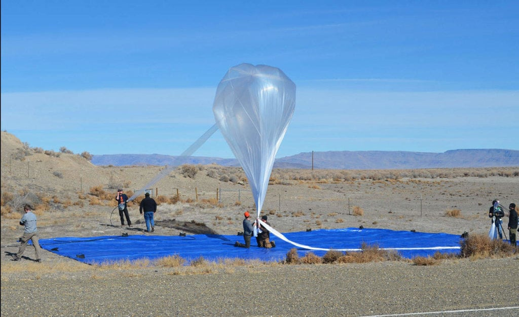 Alphabet's Project Loon stratospheric balloon. Photo: Alphabet.