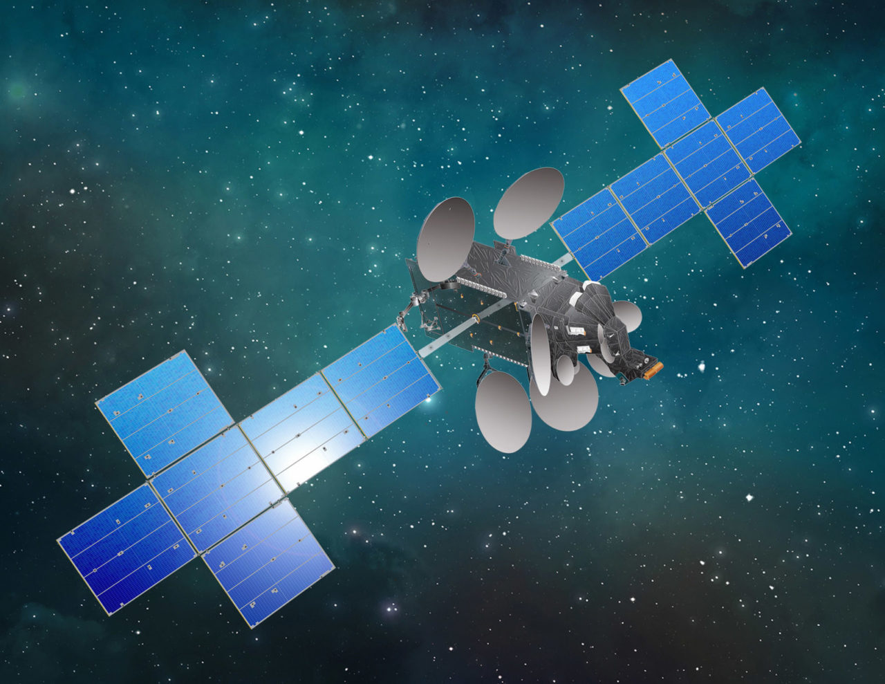 Rendition of the Star One D2 satellite. Photo: SSL.