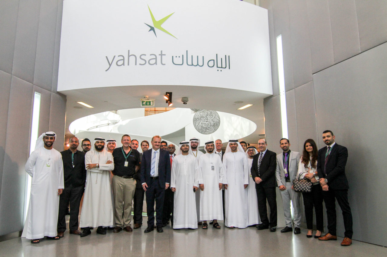 A consortium of Emirati companies, including Yahsat, du and Etihad Airways Engineering achieved a regional speed benchmark, with the support of Hughes Network Systems and Carlisle Interconnect. Photo: HK Strategies.