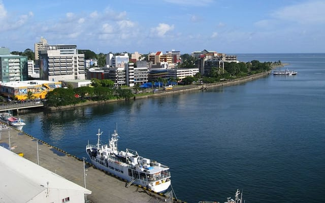 A portion of the waterfront in Suva, the capital and largest city of Fiji. Photo: Flickr/Nathan Hughes Hamilton.