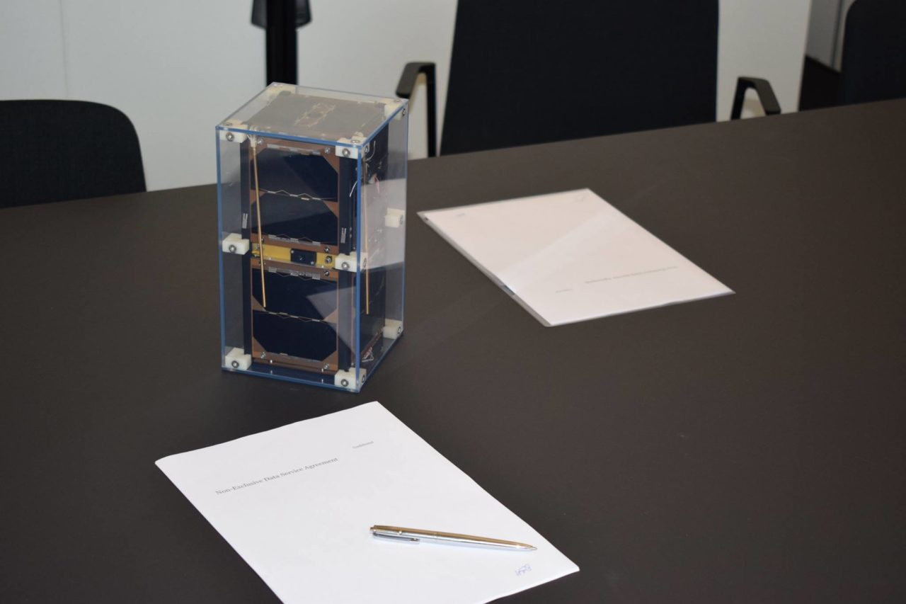 Aerial & Maritime nanosatellite prototype. Photo: Gomspace/Facebook.