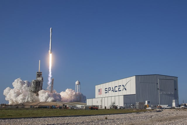 A Falcon 9 rocket launches the SES 10 satellite on March 30, 2017. Photo: SpaceX.