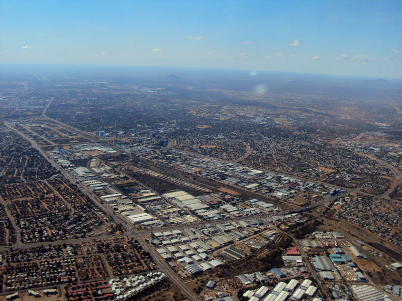 Aerial view of Gaborone, Botswana. Photo: Wikimedia.