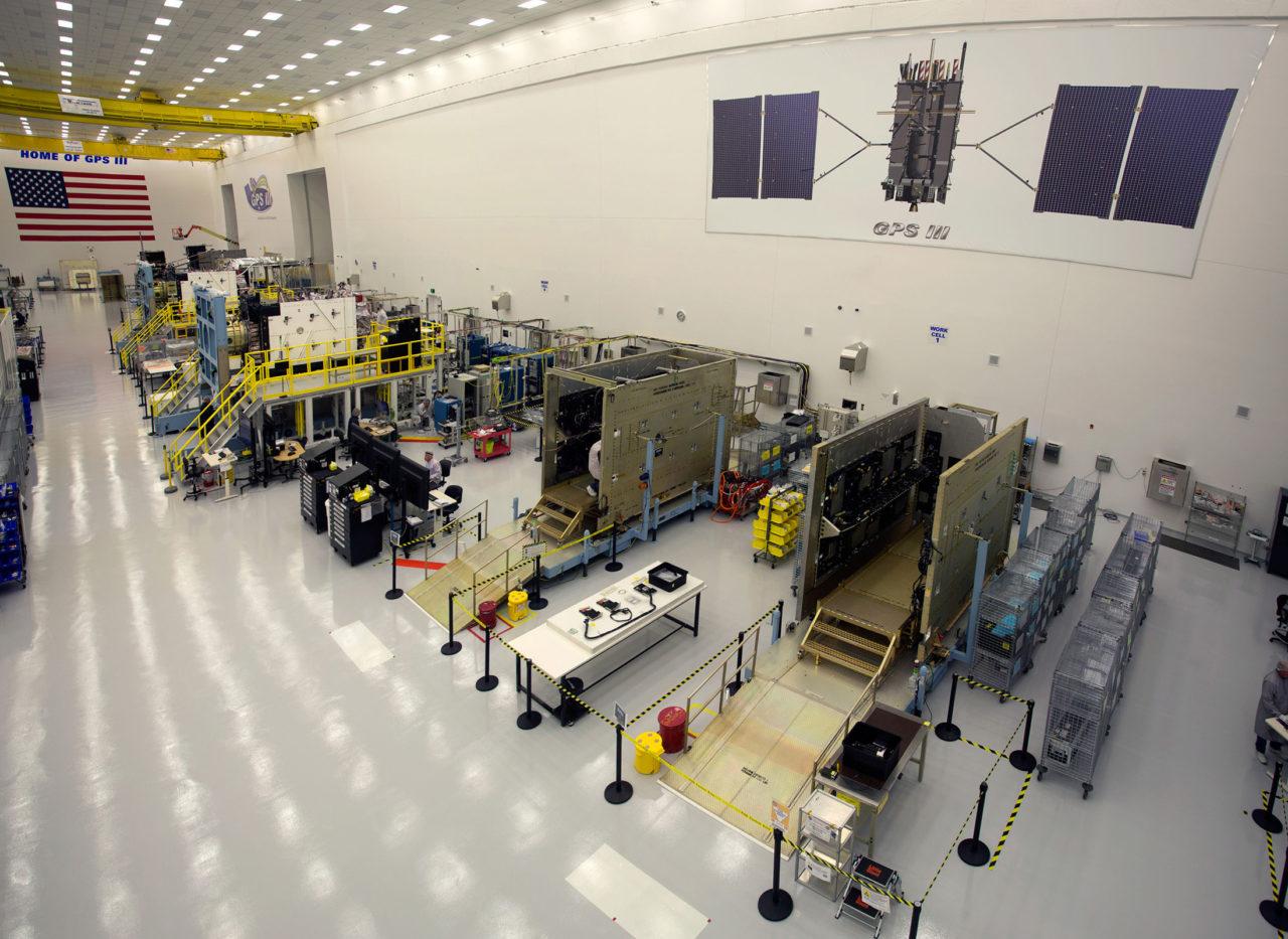 Lockheed Martin's GPS 3 clean room at its manufacturing facility near Denver, Colorado. Photo: Lockheed Martin.