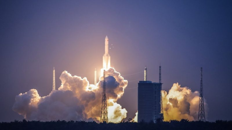 The second launch of China's heavy-lift carrier rocket, the Long March-5, on July 2 was unsuccessful. Photo: CGTV.