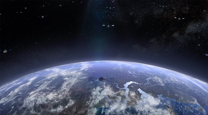 Artist's rendition of the WorldVu constellation. Photo: OneWeb.