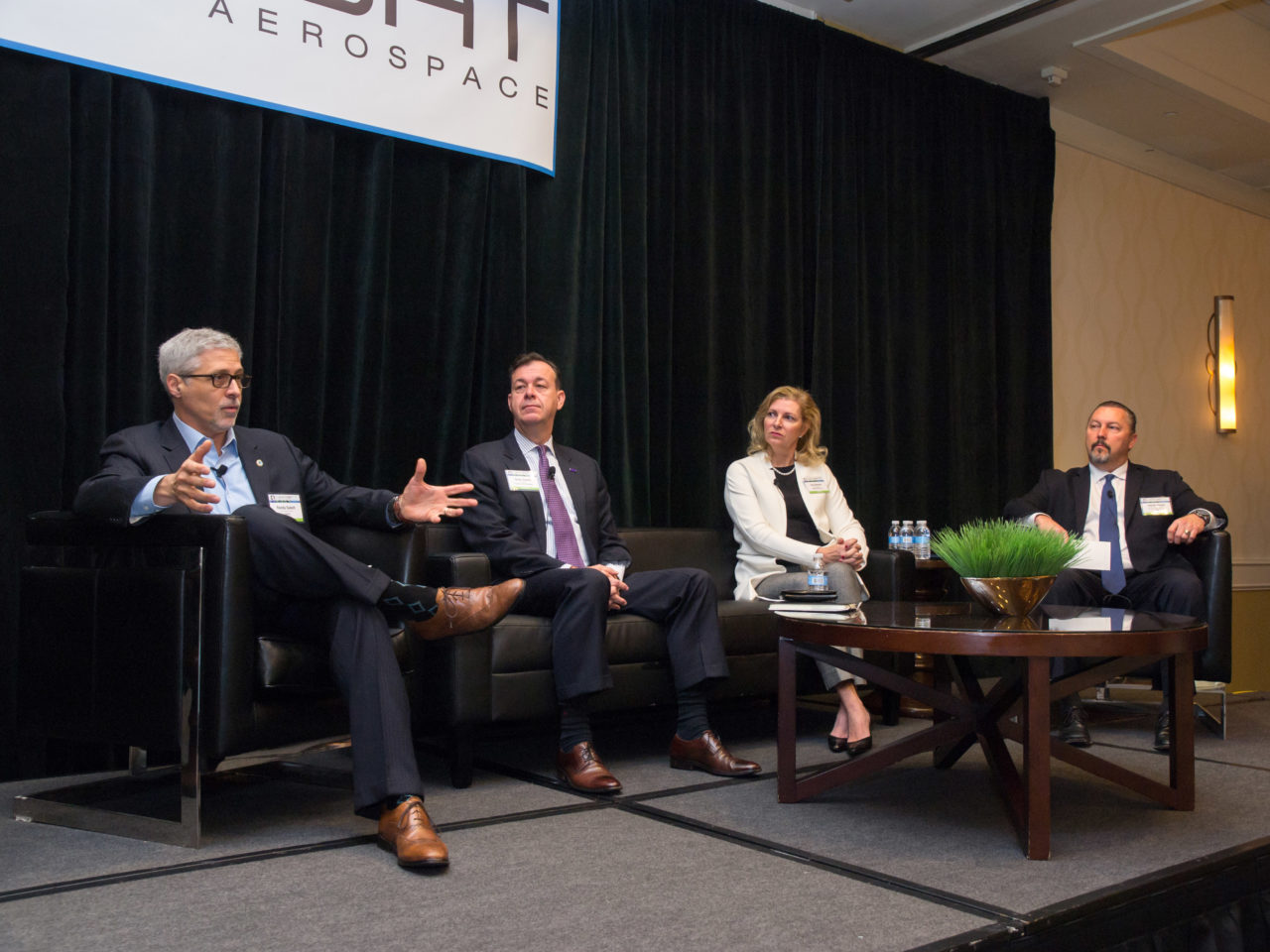 L-R: Randy Sabett, head of Cooley's cyber practice; Greg Touhill, president of Cyxtera; Lisa Donnan, managing director at Option3Ventures; James Turgal, executive assistant director of the FBI's information and technology branch. Photo: Access Intelligence/Vince Lim.