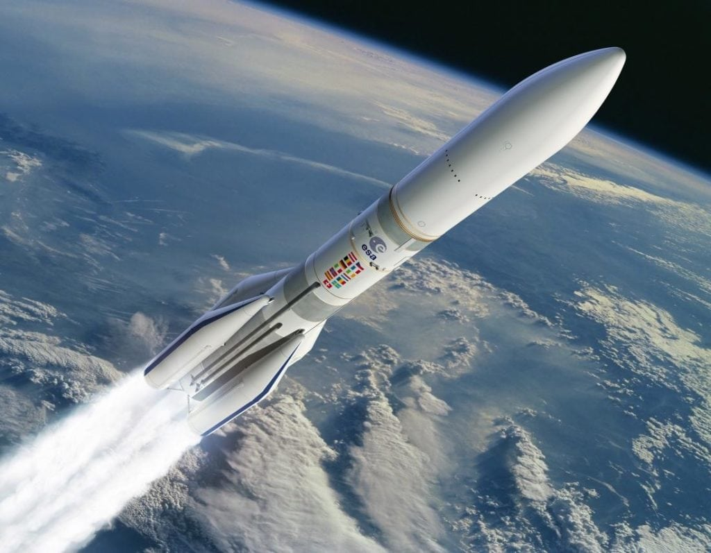 Artist rendition of Ariane 64 ESA