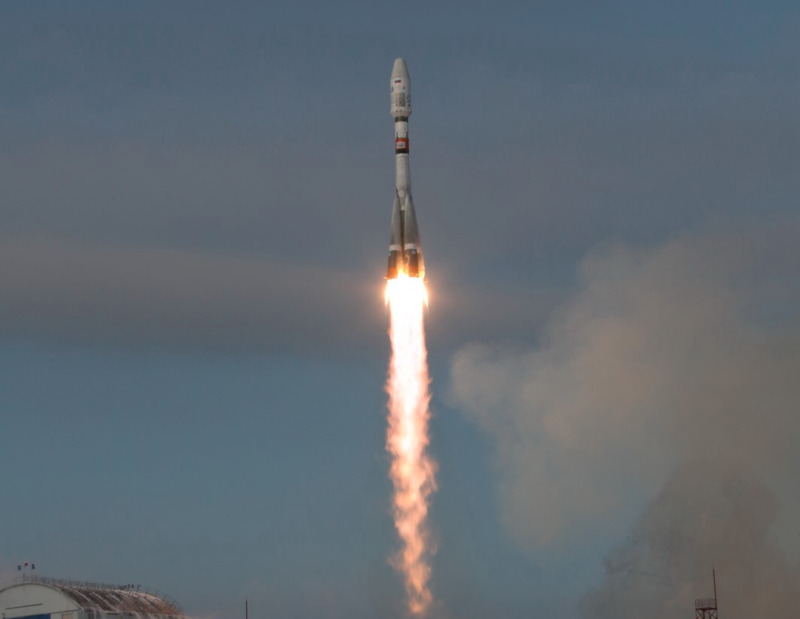 A Soyuz 2 rocket lifts off from the Vostochny Cosmodrome in far east Russia on Nov. 28. Photo: Roscosmos.