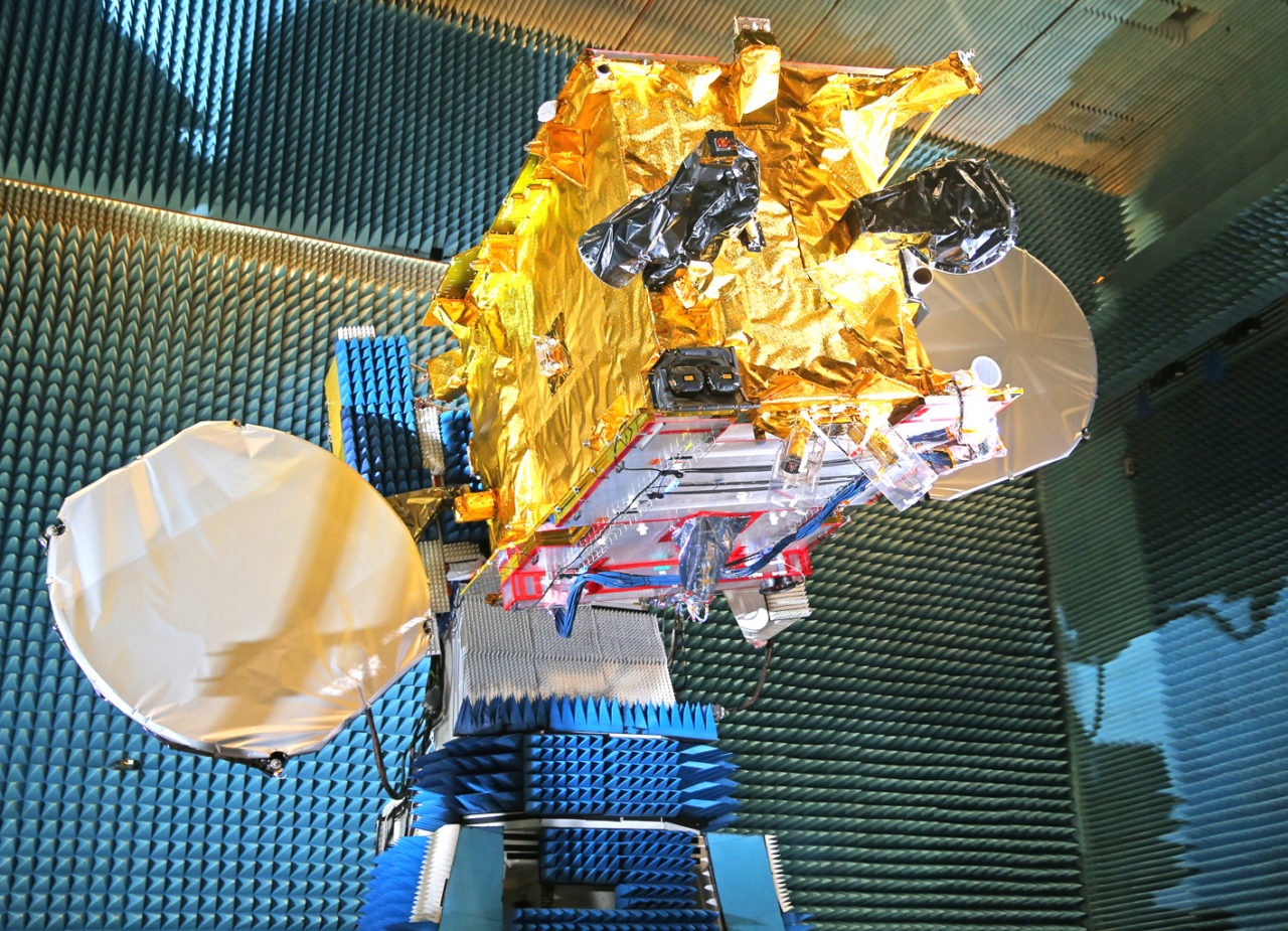 Echostar 105/SES 11 undergoes testing at Airbus facilities in Toulouse, France. Photo: Airbus Defence and Space.