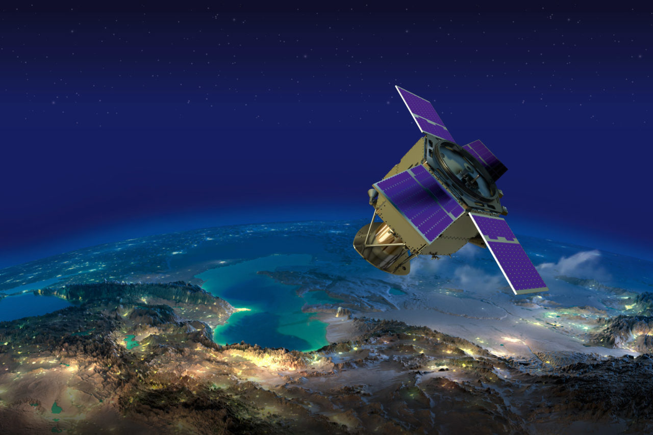 Rendition of the KhalifaSat satellite. Photo: MBRSC.