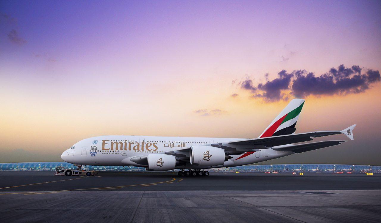 An Emirates A380 passenger jet. Photo: Emirates.