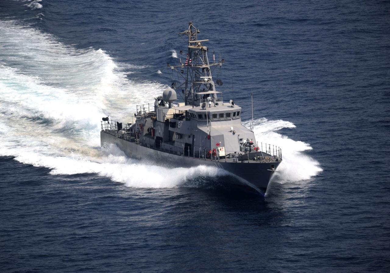The cyclone-class coastal patrol ship USS Firebolt (PC 10) underway during an exercise in the Arabian Gulf in 2011. Photo: U.S. Navy/ Walter M. Wayman.