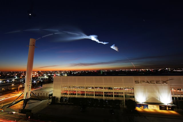 Iridium 4 mission time-lapse. Photo: SpaceX.
