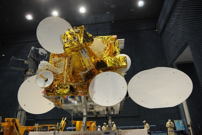 Alcomsat 1 before integration with the Long March 3B rocket. Photo: ASAL.