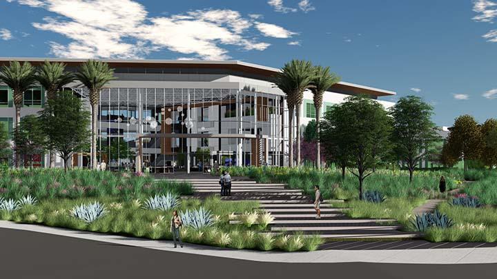 Rendition of ViaSat's expanding headquarters in Carlsbad, California. Photo: ViaSat.
