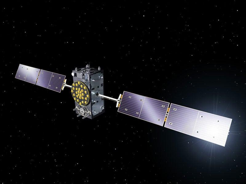 Rendition of a Galileo satellite on orbit. Photo: ESA.
