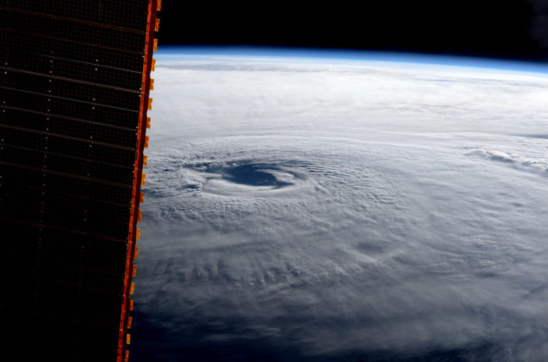 An image of hurricane Maria taken by ESA astronaut Paolo Nespoli from on board the International Space Station on Sept. 21, 2017. Photo: ESA/NASA.
