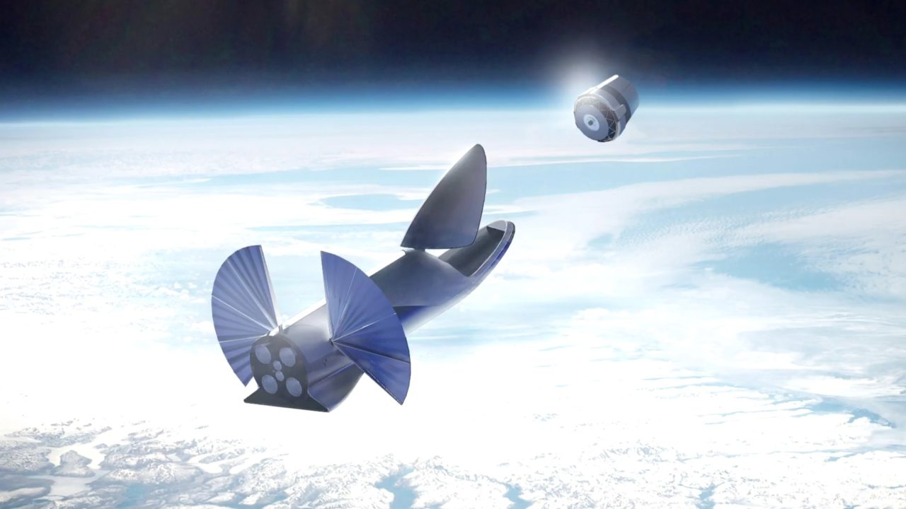 Rendition of SpaceX's BFR launch vehicle. Photo: SpaceX.