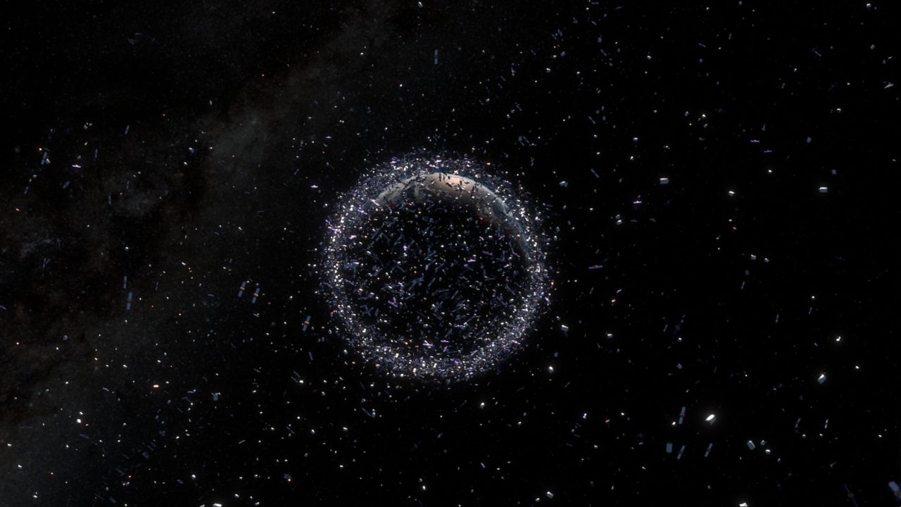 Rendition of space junk surrounding Earth. Photo: ESA.