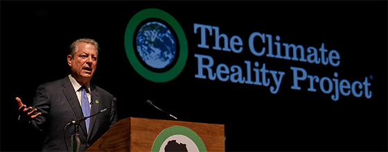 Former U.S. Vice President Al Gore delivers a speech during last year's Climate Reality Project. Photo: Al Gore.