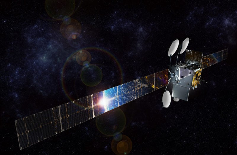 Rendition of the ViaSat 2 satellite. Photo: ViaSat.